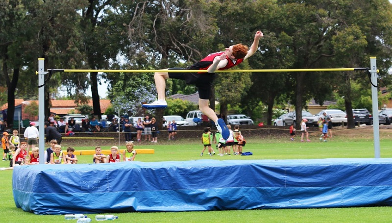 Lachlan Fox breaking high jump record 1.88