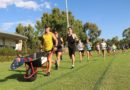 The Wheelbarrow man comes to training