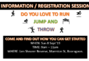 Information / Registration Session Sunday 8th September