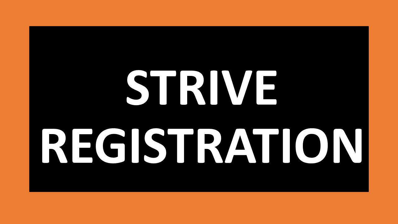 Strive Registration Link